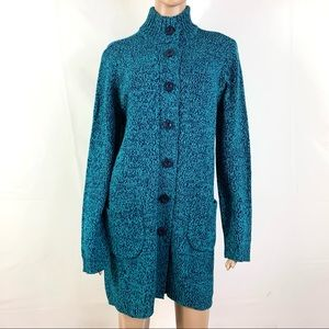 Anthony Richard's Women's Sweater Blue Buttons L